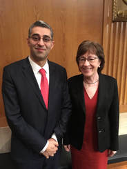 Dr. Ayati with Senator Susan M. Collins at the United States Senate Special Committee on Aging